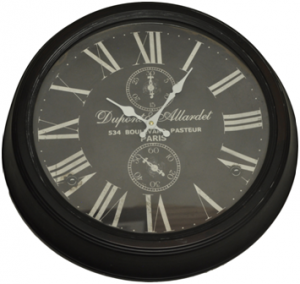 CLK-143212 METAL CLOCK WITH GLASS