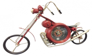 M-09-00116, MOTORCYCLE TABLE CLOCK